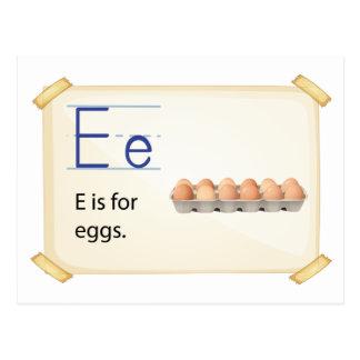 Buchstabe E Postkarte