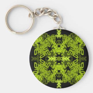 Buchstabe ein-e-Spiegel-Blatt-grün Schlüsselanhänger
