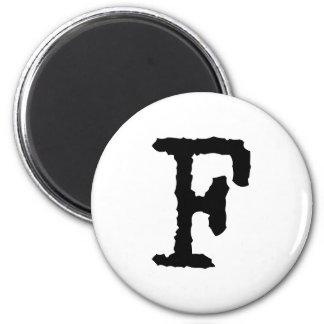 Buchstabe F Magnets