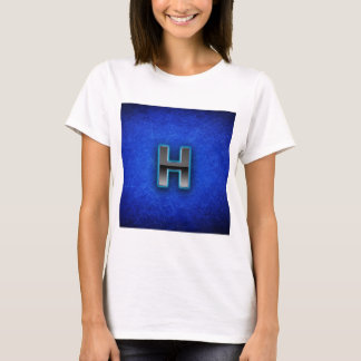 Buchstabe H - blaue Neonausgabe T-Shirt