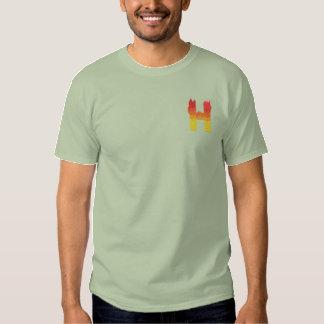 Buchstabe H des Feuer-#2 Besticktes T-Shirt