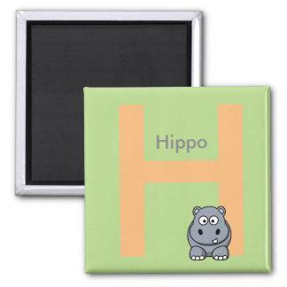 Buchstabe H ist für den Magneten der Quadratischer Magnet