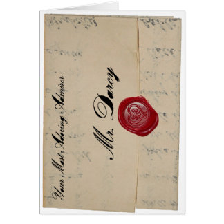 Buchstabe-Karte Herr-Darcy Love Karte