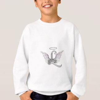 Buchstabe L Anfangsmonogramm mit Engels-Flügeln u. Sweatshirt