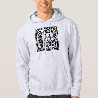 Buchstabe L mittelalterliches Monogramm-Vintage Hoodie