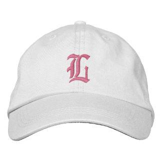 Buchstabe L Monogramm gestickter Hut