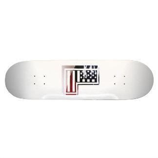 Buchstabe L Monogramm-Initiale patriotische Individuelle Skatedecks