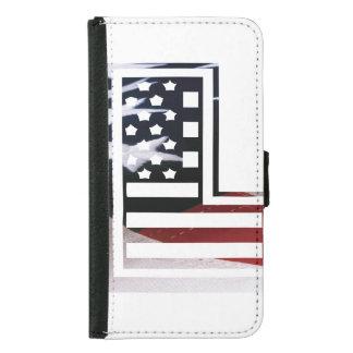 Buchstabe L Monogramm-Initiale patriotische Samsung Galaxy S5 Geldbeutel Hülle