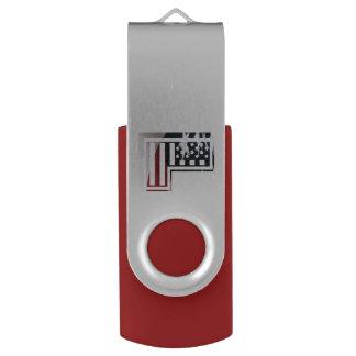 Buchstabe L Monogramm-Initiale patriotische USB Stick