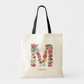 BUCHSTABE-Monogramm-Tasche I des Buchstabe-M | Tragetasche