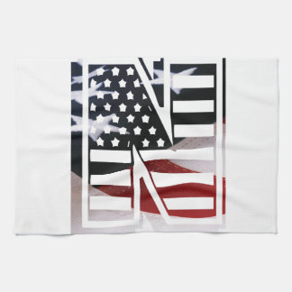 Buchstabe- Nmonogramm-Initiale patriotische Geschirrtuch