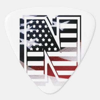 Buchstabe- Nmonogramm-Initiale patriotische Plektrum