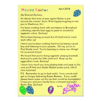 Buchstabe Osterhasen-von den lila blaues Magnetische Karte