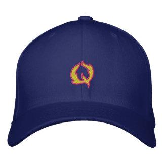 Buchstabe Q des Feuer-#1 Bestickte Baseballkappe