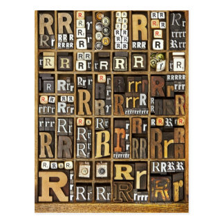 Buchstabe R Postkarte