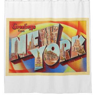 Buchstabe-Reise-Postkarte New York City #2 NY Duschvorhang