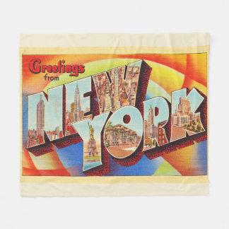 Buchstabe-Reise-Postkarte New York City #2 NY Fleecedecke