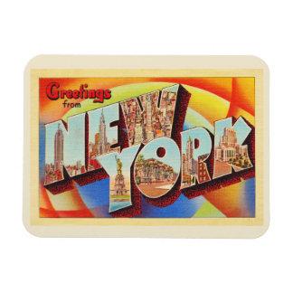 Buchstabe-Reise-Postkarte New York City #2 NY Magnet