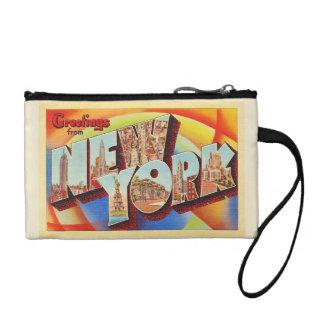 Buchstabe-Reise-Postkarte New York City #2 NY Münzbeutel