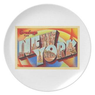 Buchstabe-Reise-Postkarte New York City #2 NY Teller