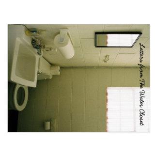 Buchstabe von der WC-Postkarte 1