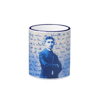 Buchstabe von Kafka Ringer Tasse