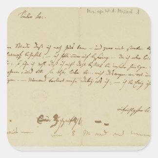 Buchstabe von Mozart zu einem Freimaurer, im Janua Aufkleber
