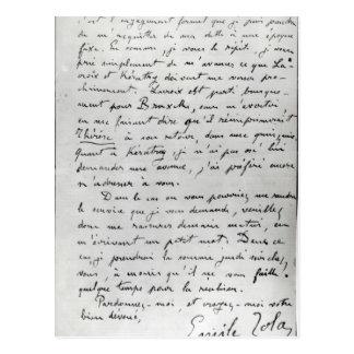 Buchstabe von Zola zu Edouard Manet 1868 Postkarte