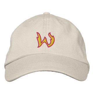 Buchstabe W des Feuer-#1 Bestickte Baseballmütze