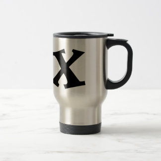 Buchstabe X_large Edelstahl Thermotasse