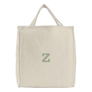 Buchstabe Z Bestickte Einkaufstasche