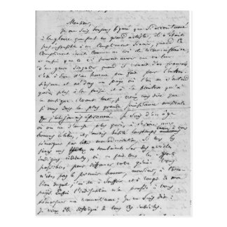 Buchstabe zu Richard Wagner am 17. Februar 1860 Postkarte
