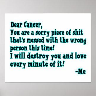 Buchstabe zum Krebs Poster