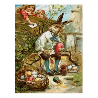 Buchstabe zum Osterhasen Postkarte