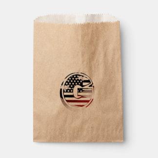Buchstabeg-Monogramm-Initiale patriotische Geschenktütchen