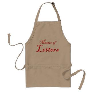 Buchstaben Schürze