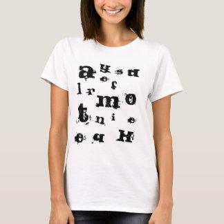 Buchstaben T-Shirt