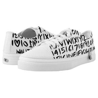Buchstaben und Zahlen Niedrig-geschnittene Sneaker