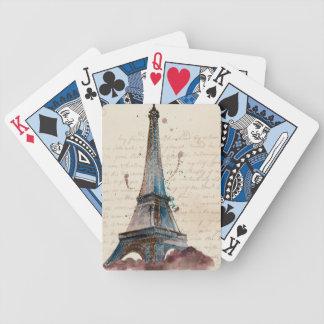 Buchstaben von Eiffel Bicycle Spielkarten