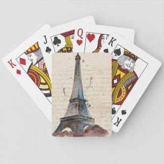 Buchstaben von Eiffel Spielkarten