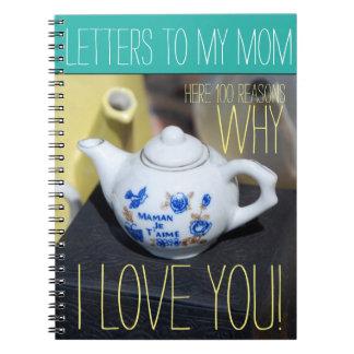 Buchstaben zu meinem Notizbuch der Mamma-Mutter Notizblock