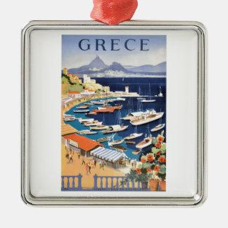 Bucht 1955 Griechenlands Athen des Castella Silbernes Ornament