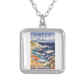 Bucht 1955 Griechenlands Athen des Castella Versilberte Kette