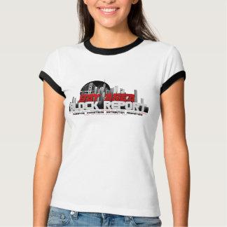 Bucht-Bereichs-Block-Berichts-T - T-Shirt