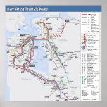 Bucht-Bereichs-Durchfahrt-Karte mit ausführlicher Plakatdruck