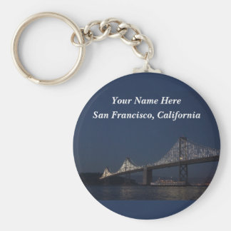 Bucht-Brücke u. Yerba Buena Insel #2 Keychain Schlüsselanhänger
