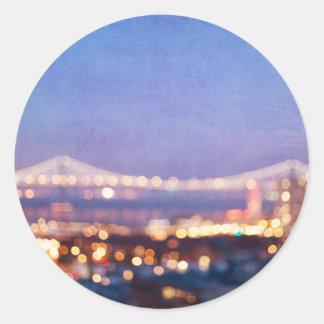 Bucht-Brücken-Glühen - San Francisco Aufkleber