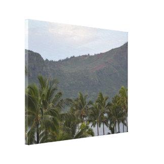 Bucht Hawaiis Kalapaki auf Kauai Leinwanddruck