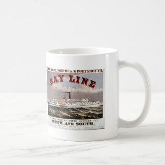Bucht-Linie - die große durchgehende Linie Kaffeetasse