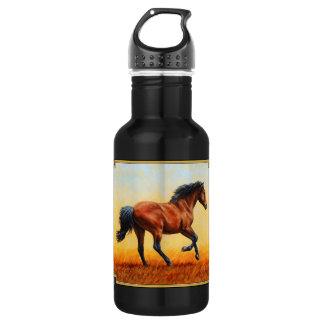 Bucht-Pferdegaloppieren Edelstahlflasche